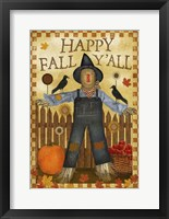 Happy Fall Y'all III Framed Print