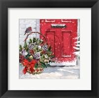 Framed Christmas Basket