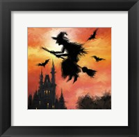 Framed Halloween Witch