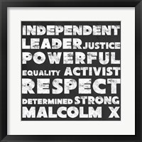 Framed Respect Malcolm X