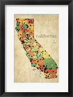 Framed California County Map