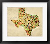 Framed Texas County Map