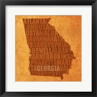 Framed Georgia State Words
