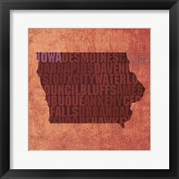 Framed Iowa State Words