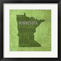 Framed Minnesota State Words