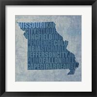 Framed Missouri State Words