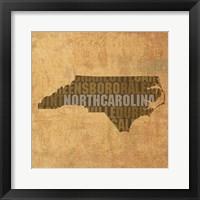 Framed North Carolina State Words