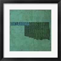 Framed Oklahoma State Words