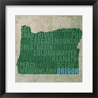 Framed Oregon State Words