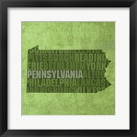 Pennsylvania State Words Framed Print