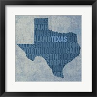 Framed Texas State Words