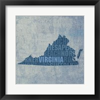 Virginia State Words Framed Print