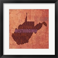 West Virginia State Words Framed Print