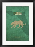 Florida Poster Framed Print