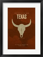 Texas Poster Framed Print