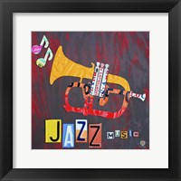License Plate Art Jazz Series Piano II Framed Print