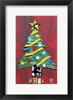 Framed Noel Christmas Tree License Plate Art