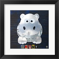 Grunt The Hippo Framed Print