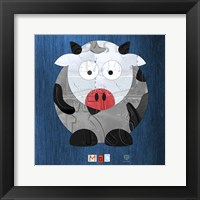 Framed Moo The Cow