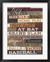 Hey Batter Batter Framed Print