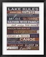 Framed Lake Rules