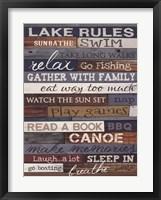 Framed Lake Rules
