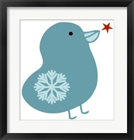 Framed Snowflake Bird
