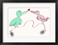 Framed Love Birds