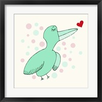Framed Dreamy Love Bird