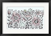 Framed Flower Cats