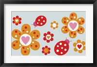 Framed Ladybird Flowers