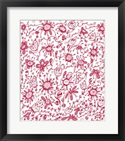 Framed Playful Pink Flowers