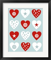 Framed Christmas Hearts
