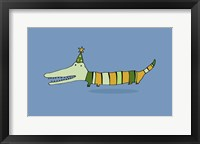 Framed Stripy Crocodile