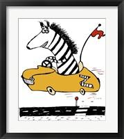 Framed Zippy Zebra