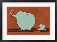 Skateboard Elephant Framed Print