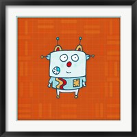 Little Robot Boy Framed Print