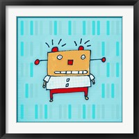 Yellow Robot Framed Print