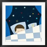 Sweet Dream Boy Framed Print