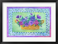 Framed Pansy Basket