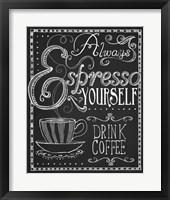 Framed Espresso Yourself