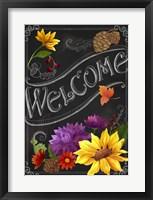Framed Chalkboard Welcome