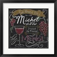Framed Wine Chalkboard I