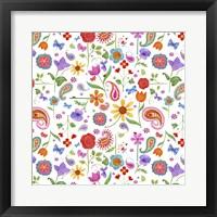 Framed Petals & Paisley