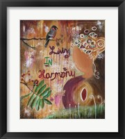 Framed Living In Harmony