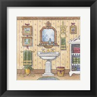 At The Sink I Framed Print