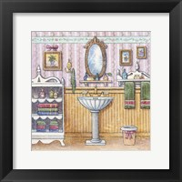At The Sink II Framed Print