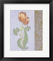 Rose Tulip With Right Border Framed Print