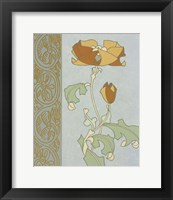 Tan Tulip With Left Border Framed Print