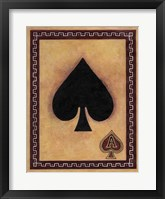 Framed Ace Of Spades